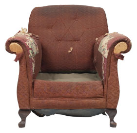 Furniture Medic of Winnipeg Upholstery and Leather Furniture Repairs and Restoration Before